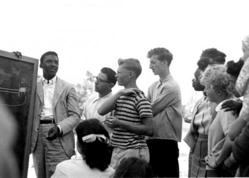 Bayard Rustin teaching