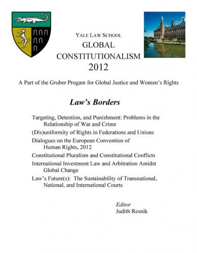 Cover of Global Constitutionalism 2012 : Law's Borders book