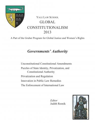 Cover of Global Constitutionalism 2013: Governments' Authority book