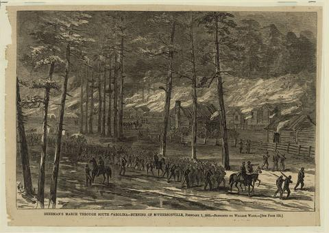 Sherman's March Through South Carolina - Burning of McPhersonville