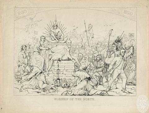 Adalbert Volck's 1862-63 cartoon depicted leading Union men as infidels